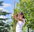 Home-made bow and arrow