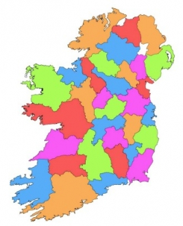 Map Of Ireland With County Borders.Provinces And Counties Of Ireland