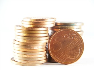 Shiny copper coins